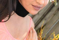 Black Velvet Choker Necklace Handmade by musicissanity on Etsy