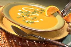 Add a refreshing taste with the addition of orange juice and zest in this Sweet Potato and Orange Soup recipe. It's great as a Thanksgiving or Christmas starter soup.