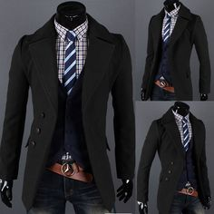 Men's Luxury Casual Style Stylish TOP Design Slim Fit Coats Blazers Suit Jackets