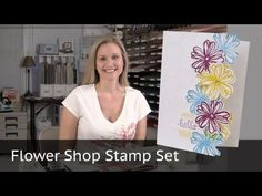 A video tutorial featuring the Stampin Up Flower Shop stamp set. Beautiful flowers cascading down the side of the card. Enjoy. More videos on my youtube channel. http://youtube.com/brandyscards.