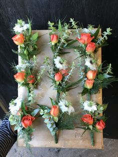 Mixed bloom buttonholes