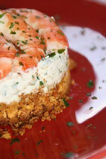 Marie cuisine pour 6: CHEESE-CAKE VERSION SALEE : RICOTTA, HERBES,CREVETTES