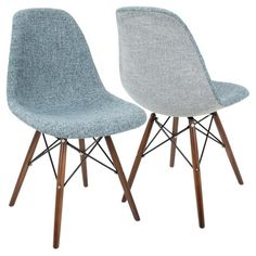 Ditch the dull and traditional chairs and opt for something with style! Simple, yet stylish, the Brady Duo Chair provides a comfortable option for any room. Sweeping lines and a classic shape, this chair features a two color upholstered seat, a geometric base and walnut wood legs. Sold in sets off two, the Brady Duo Chair is perfect for any mid-century or modern living area and can be used in a variety of spaces.