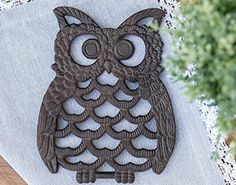 Cast Iron Owl Trivet - Decorative Trivet For Kitchen Coun... https://www.amazon.com/dp/B00J832OFE/ref=cm_sw_r_pi_dp_x_P3ikyb5E8RZ30