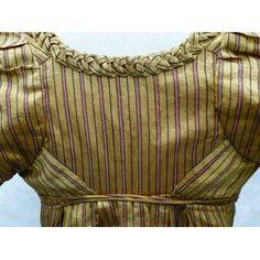 Dress Great Britain ca. 1805 Woven silk