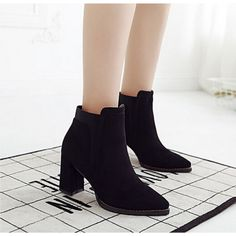 #BlackSuede #PointedToe #ChunkyHeel #AnkleBoots #AW15 £38.99 @ ShanghaiTrends.co.uk / http://shanghaitrends.co.uk/black-suede-pointed-toe-chunky-heel-ankle-boots