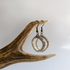 Deer Antler Earrings Tribal Rustic hand by mariya4woodcarving, $22.00