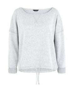 Invest in sports sweaters for the colder seasons with this Grey Drawstring Sports Sweater. £17.99 #newlook #sportswear