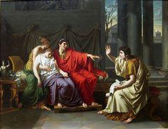 Virgile lisant l'Enéide à Auguste, Octavie et Livia, 1790, Institut d'art de Chicago  Jean-Baptiste Wicar