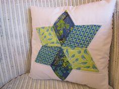 Birdy star patchwork cushion cover. £20.00, via Etsy.