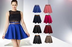 £10 instead of £20 (from She Likes) for a stylish summer skater skirt, choose from 8 colours - save a swish 50%