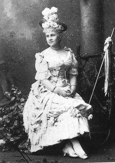 Grand Duchess Alexandra Georgievna in fancy dress.