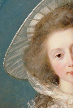 Portrait of Vicomtesse de Vaudreuil by Élisabeth Louise Vigée Le Brun, 1785 (detail)