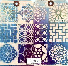 Ronda Palazzari Moroccan Tiles 6x6 stencil