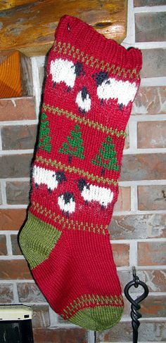 Christmas Stockings - Briggs & Little Christmas Stocking knitting pattern, with 7 different charts included! Knitted Christmas Stocking Patterns, Knitted Christmas Stockings, Christmas Knitting, Knitting Charts, Baby Knitting Patterns, Knitting Socks, Nordic Christmas, Kids Christmas, Christmas Crafts