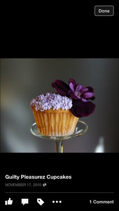 French Martini Cocktail Cupcake