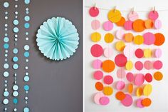 Temporary Home Improvements - Paper Garlands