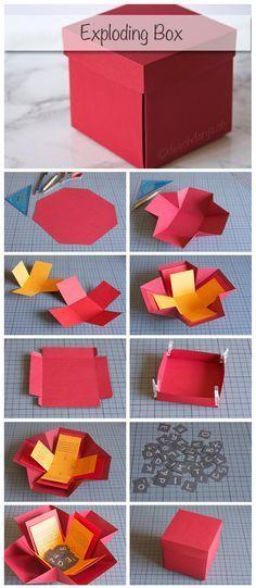 Meine verwendeten Masse: Dunkelrotes Papier: Feld aus 9 Quadraten von je 8x8cm, die 4 Ecken werden anschliessen diagonal abgeschnitten Rotes Papier: Kreuz aus 5 Quadraten von je 7x7cm gelbes Papier: Kreuz aus 5 Quadraten von je 6x6cm Deckel: Grundfläche 8.5×8.5cm plus Seitenwände 2cm und Klebefläche 0.5cm Schnipsel: 2x2xm More info and instructions about this great […]