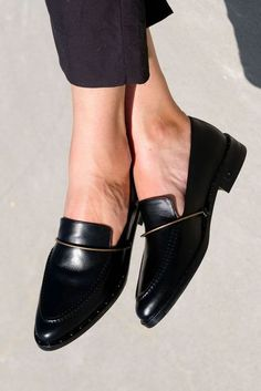 Women Casual Shoes High Hells Wedge Shoes For Women Ladies Black Leather Shoes Wedge Shoes For Women Ladies Black Leather Shoes Women's Shoes, Buy Shoes, Loafer Shoes, Wedge Shoes, Me Too Shoes, Shoe Boots, Ankle Boots, Shoes Style, Shoes For Work