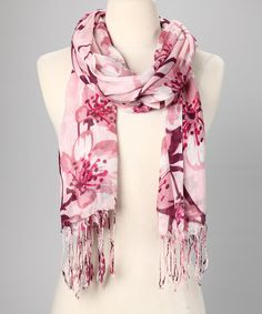 Take a look at this Pink Cherry Blossom Scarf by Veond on #zulily today!