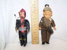 Antique Celluloid chimney sweep doll lot USE ZOOM