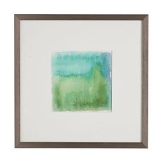 """Aquarelle Wall Art - Aquamarine Dimensions: 17.5""""sq. x 0.5""""d"""