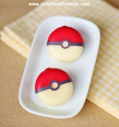 Cute Food For Kids?: Babybel Cheese Pokeball + 8 Edible Pokeball Ideas via Cute Food for Kids.  Such a  cool site!