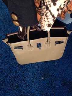 Taupe large leather bag Hermes Birkin, Leather Bag, Taupe, Bags, Fashion, Beige, Handbags, Moda, Fashion Styles