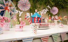 Tolle Geburtstagsdeko zum 1. Geburtstag im Motto Zirkus Party