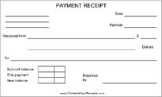 A basic payment receipt to be used by a retail store or anywhere installment payments are allowed, such as by layaway. There is room to record the account balance, current payment, and new balance. Free to download and print