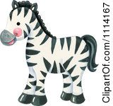 Clipart Cute Zebra Royalty Free Illustration by Gina Jane