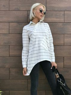 b8fe527e4baff5d Женская рубашка в клетку / хлопок / Украина 23-90-1: купить оптом и в  розницу от производителя, блузки и туники женские - интернет-магазин