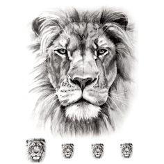 Temporary tattoo: Realistic Lion pieces) – ArtWear Tattoo Temporary tattoo: Realistic Lion pieces) – ArtWear Tattoo This image. Lion Tattoo With Crown, Lion Arm Tattoo, Small Lion Tattoo, Lion Tattoo Sleeves, Lion Head Tattoos, Mens Lion Tattoo, Lion Tattoo Design, Leo Tattoos, Animal Tattoos