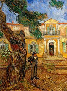 Vincent Van Gogh - Post Impressionism - Saint REMY - Devant l'asile de Saint-Rémy de Provence - 1889