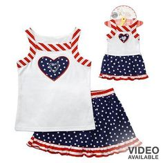 """Dollie Me Sz 5-14 and 18/"""" doll matching  Dress outfit clothes fit american girl"""