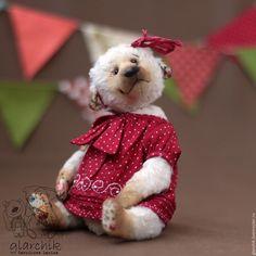 Купить медведица Чанти - бежевый, медведь, медвежонок, мишка, мишка тедди, авторская игрушка