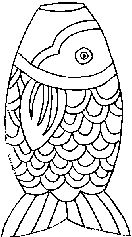 Chinese Carp Coloring Page