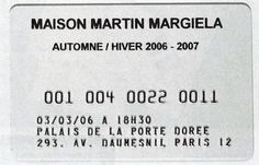 GRAPHICAL INSPIRATION — mmm-maisonmartinmargiela:    A/W 2006 Invitation....