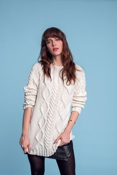 Zopfmuster-Pullover - Initiative Handarbeit