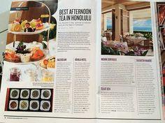 Tea at 1024 makes the cut once again.  Thank you Honolulu Magazine.