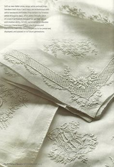 ⌖ Linen & Lace Luxuries ⌖   Victorian embroidered linens