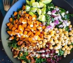 ... about Vegan Salads on Pinterest | Kale salads, Kale and Chickpea salad