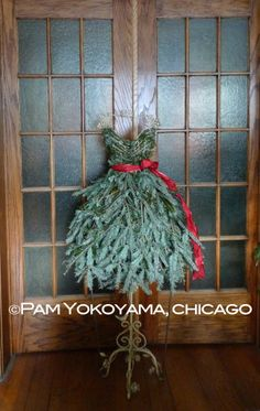 Click for purchasing options! DIY tutorial also available. Repurposed Christmas Tree Dress Form by 4 Seasons Painting & Landscaping, Chicago; Photo courtesy of Jim Meacci