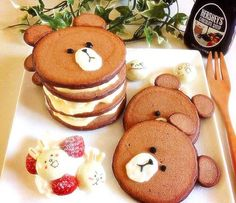 Comida divertida Comida divertida para niños grandes y pequeños Cute Food, Good Food, Yummy Food, Baby Food Recipes, Dessert Recipes, Food Baby, Kreative Desserts, Pancake Art, Pancake Ideas