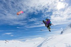 Camilla Ringvold kiting in Hemsedal Kite, Camilla, Mount Everest, Norway, Places To Go, Mountains, Nature, Travel, Naturaleza