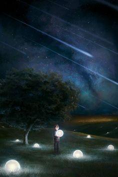 insp. shooting stars, mini moons on ground