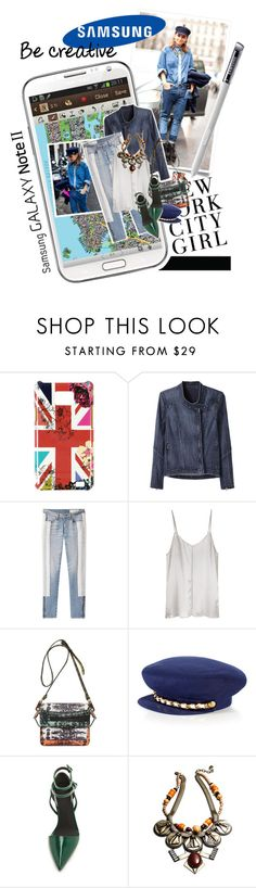 """""""Create a Downtown Muse look for a chance to win a Samsung GALAXY Note II!"""" by ashley-rebecca ❤ liked on Polyvore featuring H&M, Samsung, City Streets, Accessorize, Helmut by Helmut Lang, rag & bone/JEAN, Ian R.N., Kenzo, Juicy Couture and Alexander Wang"""