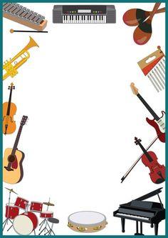 Frame Background, Paper Background, Music Border, School Border, Boarders And Frames, School Frame, Page Borders, Borders For Paper, Music Activities