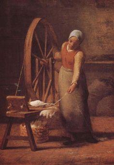 Jean-François Millet - Charité Jean-François Millet - The Knitting Lesson Jean François Millet - Young woman Jean-François Mil...