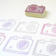 Say Cheese! My Little Camera Stamp - Rubber Stamp by Creatiate Say Cheese! My Little Camera Stamp - Rubber Stamp by Creatiate